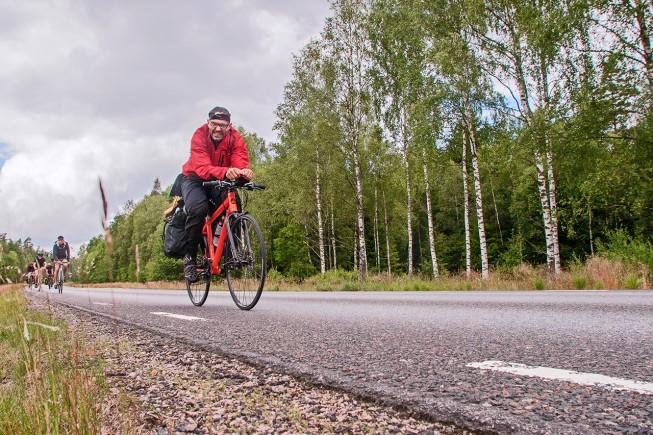 Groupe ride entre Copenhague et Stockholm à l' occasion des ECMC 2014 (European Cycle Messenger Championship)