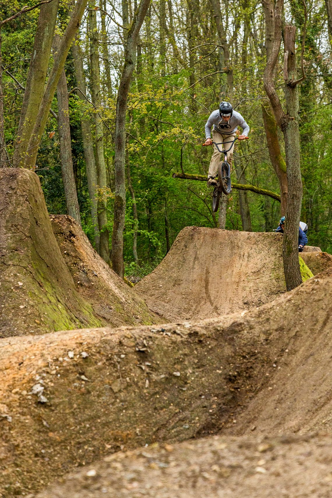 Jam bmx et vtt au trail du big up crew en after du PCR supercross du 24 avril 2016.
